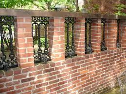 fence design brick fence backyard fences