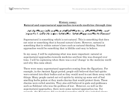 natural and supernatural approaches towards medicine through time  document image preview