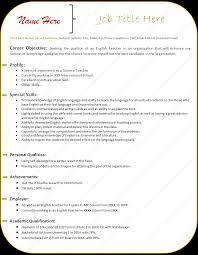 How To Write A Resume For A Teacher Tomyumtumweb Com