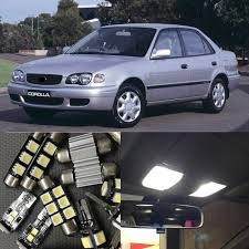 10Pcs White LED Lights Bulb Interior Package Kit For Toyota ...