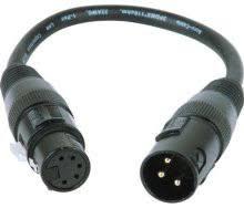 dmx adapters full compass accu cable ac3pm5pfm 3 pin xlr m to 5 pin xlr f turnaround adapter