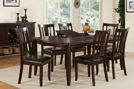 this dining collection features a 7 piece set of beautiful furniture dipped in a deep