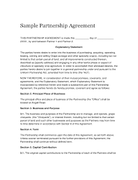 Sample Partnership Agreement Free Download