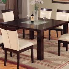 1320 square contemporary dining table with gl by world imports wolf furniture