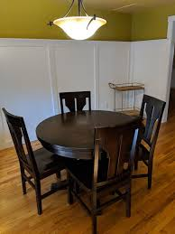 round table dining room set 4 chairs w leaf furniture in vancouver wa offerup