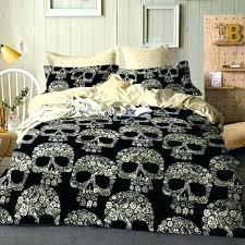 skull bedding king set queen double size duvet cover quilt bed pillow and crossbones ralph lauren s