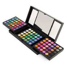 180 colors eyeshadow palette kit natural glitter pearl shimmer folding kit set makeup mirror