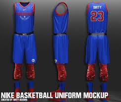 Basketball Jersey Design Template Psd Free Nike Nba Basketball Uniform Mockup On Student Show