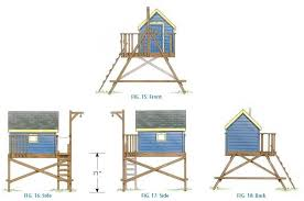 Simple Treehouse Plans Playhouse Wood T Throughout Concept Ideas