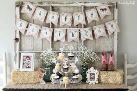 Cowgirl Birthday Decorations A Cowgirl Birthday Party House By Hoff