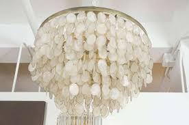 amusing white capiz shell chandelier 16 for home remodel design within capiz shell chandelier