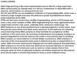 Dna Essay Dna Fingerprinting Essay