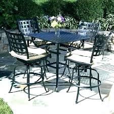 pub height balcony bistro set patio furniture bar impressive sets 5 piece outdoor acceptable silver pub table bistro