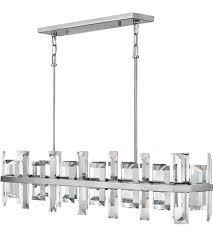 fredrick ramond fr39216pni odette 8 light 42 inch polished nickel linear chandelier ceiling light