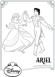 Des Coloriages Gratuits Disney Ariel La Petite Sir Ne Imprimer