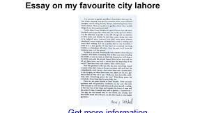 essay on my favourite city lahore google docs