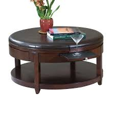 Places To Coffee Tables Shop Magnussen Home Brunswick Coffee Bean Cherry Round Coffee