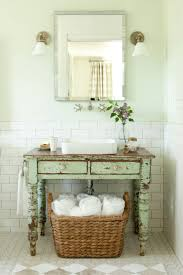 country themed reclaimed wood bathroom storage: southern living idea house   southern living idea house