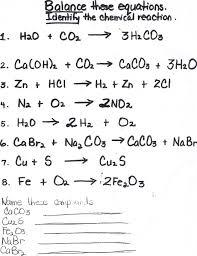 46 writing and balancing chemical equations worksheet balancing equations questions and answers artgumbo org