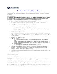 Sample Referencesapa Style Thunderbird International