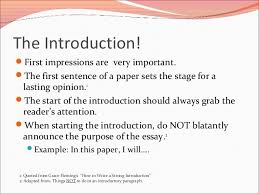 introduction of essay examples