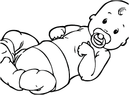 Baby Coloring Pages Girl Raovat24hinfo