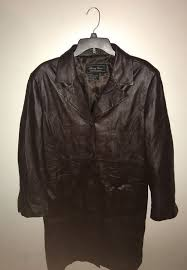 terry lewis classic luxuries leather coat size large
