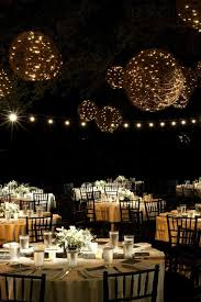 lighting ideas for wedding reception. magical night wedding reception with hanging light balls use limeteal paper lanterns wrapped in solar twinkle lights lighting ideas for e