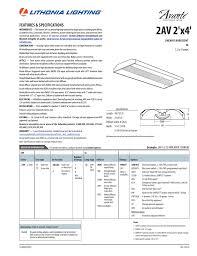 Lithonia Lighting Avante 2av 2x4 Lithonia 2av G 2 32 Mdr Mvolt Geb10is Spec