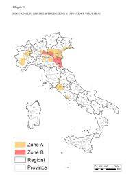 Aviaria: individuate le zone ad alto rischio di introduzione e diffusione  del virus in Italia