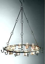 chandeliers candle chandelier non electric rustic with regard to