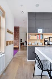 Kitchens With Laminate Flooring Kitchen White And Black Wall Cabinet Light Beech Laminate