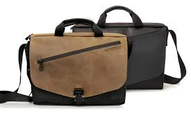 cargo bag grizzly leather and black leather flap options