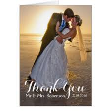 Wedding Thank You Note Cards | Zazzle