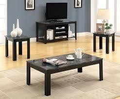 Amazon.com: Monarch Specialties Marble Look Top 3 Piece Table Set, Black/Grey:  Kitchen U0026 Dining