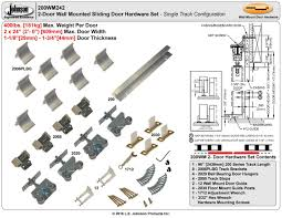 picture of 200wm 24 2 door hardware set