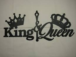 unbelievable king and queen with crowns metal wall decor set image of inspiration concept beautiful ideas