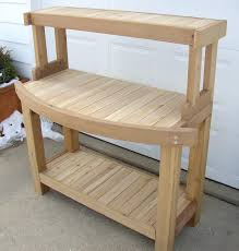 Potting Bench Plans Products To Unclog Sink Image Of Outdoor Potting Bench With Plans