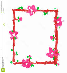 frame border design. Border Design With Flower In Sketch Flowers Frame Paper Paint Royalty Free Stock Photos T