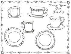 Small Picture Printable Tea Party Coloring Page For Kids Arts Crafts for