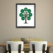 family tree circles personalised wall art on personalised wall art family tree with family tree circles personalised wall art canvas wall art print
