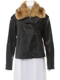 fur trimmed leather jacket