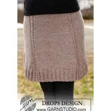 Knit Skirt Pattern Inspiration Knitted Ladies' Skirt Pattern In DROPS Karisma With Cables FREE