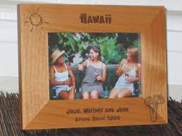 hawaii picture frame personalized frame laser engraved tropical drink sun