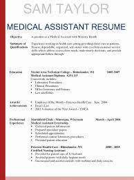 Medical Resume Medical Assistant Resume Skills Luxury Sample Resumes For