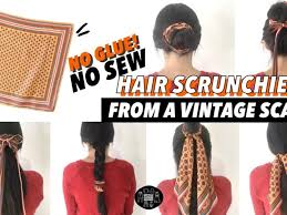 diy no sew hair scrunchies upcycle