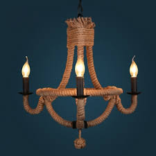 industrial 25 wide 3 light rope led chandelier pendant in black candle finish takeluckhome com
