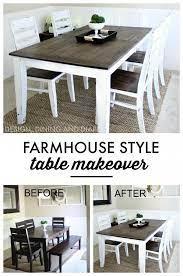 farmhouse table makeover kitchen