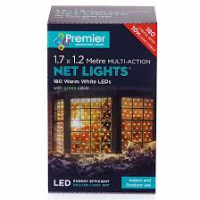 Outdoor Net Lights Warm White Premier 180 Multi Action Net Led Lights Warm White 1 7 X 1 2 M