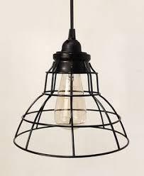 plug in industrial lighting. Tesla V Flat Industrial Cage Pendant Lamp With Plug-in Cord | October Design Co Plug In Lighting D